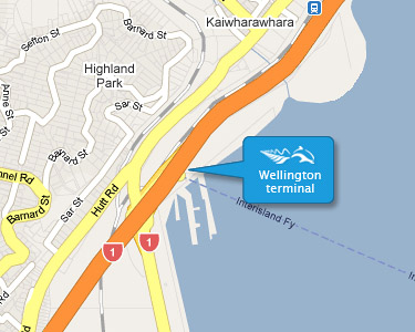 Interislander Wellingtong Ferry Terminal Map